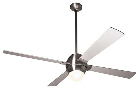 modern ceiling fan with bright light 46 quot modern fan gusto bright nickel ceiling fan with light