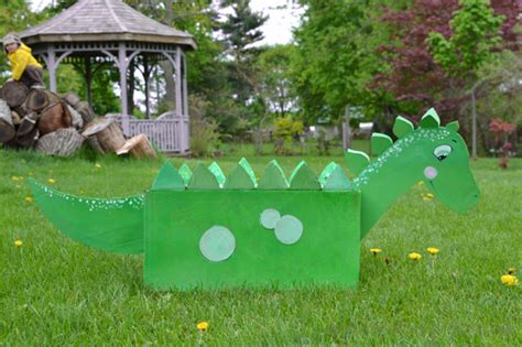How To Make A 3d Dinosaur Out Of Paper - diy cardboard box dinosaur