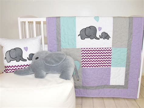 purple elephant crib bedding elephant baby quilt gray purple teal crib bedding purple