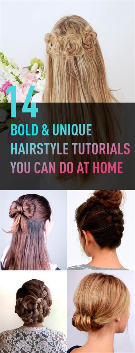 cool hairstyles you can do at home beauty high 14 bold unique hairstyle tutorials you can do at home