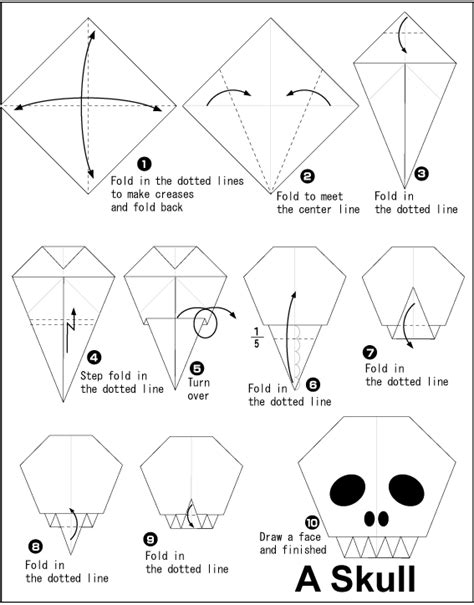 How To Make A Skeleton With Paper - origami