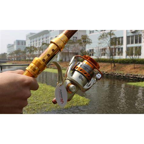 Yumoshi Gulungan Pancing Ef6000 Metal Fishing Spinning Reel 12 Bearing yumoshi gulungan pancing ef6000 metal fishing spinning reel 12 bearing golden