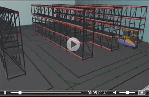 3d warehouse layout software warehouse modeling and simulation videos and images with