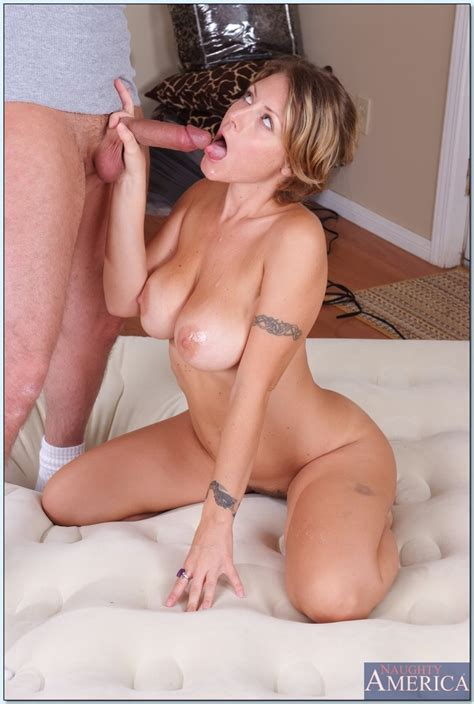 sexy milf with huge tits velicity von trying out new matress for sex