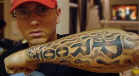 eminem tribal tattoo eminem tattoos tattoos of eminem