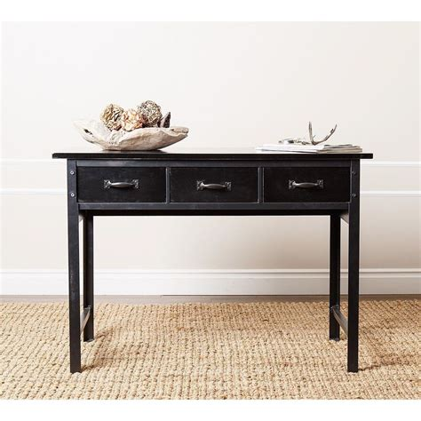 Black Sofa Table Living Room Furniture Antique Black Console Quot Sofa Table Quot Entry Accent Den Ebay