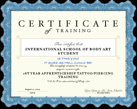 tattoo license online learn how to body pierce apprenticeship certificate course