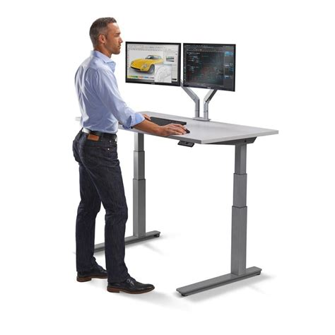 ergonomic stand up desk standing workstation electric adjustable height desk