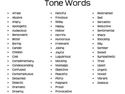 exle of tone authors tone words used cars still brum brum