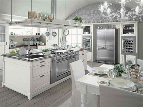 Modern Chic Kitchen Designs Ideas Modern Farmhouse Style White Kitchen Interior And Dining Table Modern Farmhouse Style