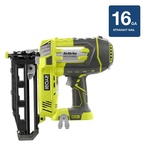 ryobi 18v one 16 ga airstrike finish nailer bare tool