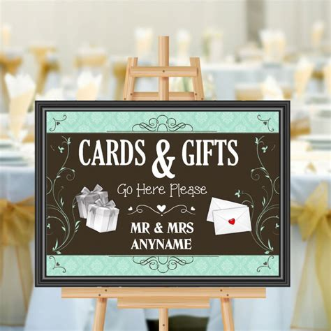 Cards And Gifts Banner - personalised wedding cards gifts sign poster banner print n180