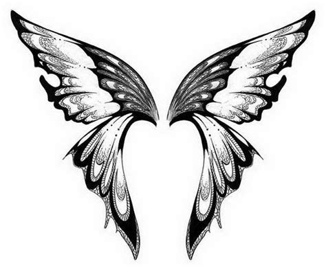 tattoo butterfly with angel wings free printable tattoo stencils design gallery ideas