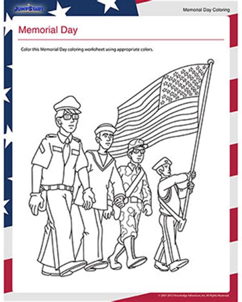 preschool coloring pages for memorial day memorial day printable coloring worksheet for