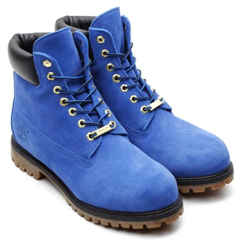 timberland 215 atmos 6inch premium boot blue suede mens