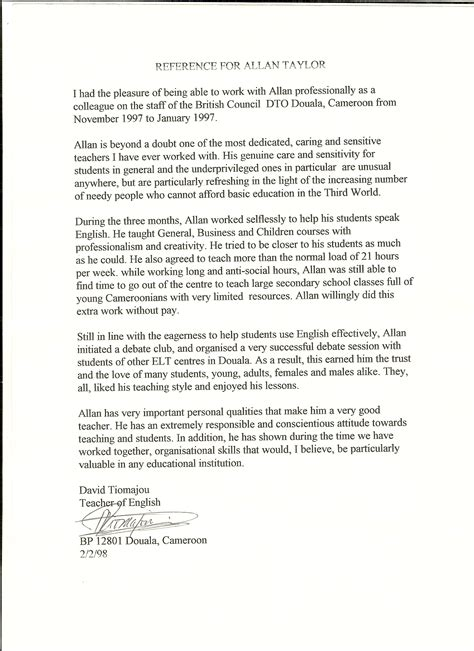 Reference Letter In Afrikaans letter of recommendation help vancouver