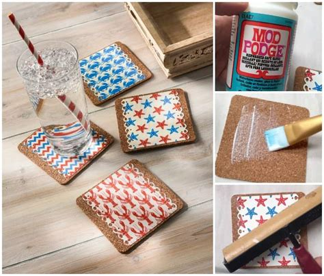 How To Make Decoupage Coasters - decoupage nautical drink coasters mod podge rocks