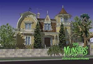 munsters house in color dreams come true the munsters house at midnight