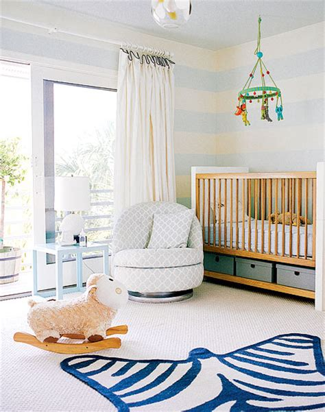 blue striped walls blue nursery walls design decor photos pictures