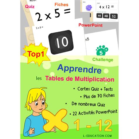 1409576965 les tables de multiplication super pack pour apprendre les tables de multiplication