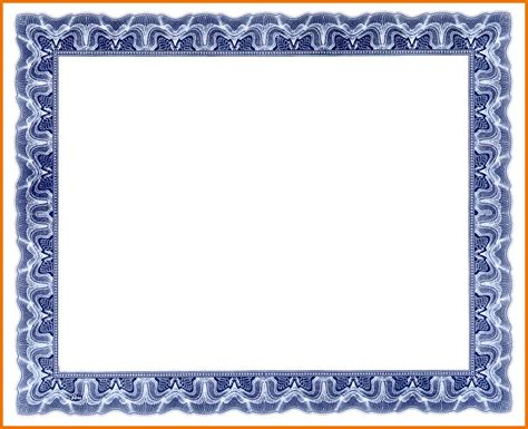 Blank Certificate Templates Without Borders by Blue Certificate Border Template Www Imgkid The