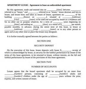 free apartment lease agreement template sle apartment rental agreement template 7 free