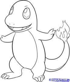 charmander coloring page how to draw charmander step by step characters