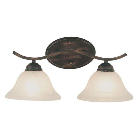 Bel Air Lighting by Bel Air Lighting Stewart 2 Light Rubbed Bronze Cfl