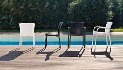 sedie esterni sedia in pvc intrecciato economica per esterni idfdesign