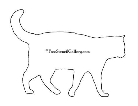 printable stencils com cat silhouette stencil free stencil gallery