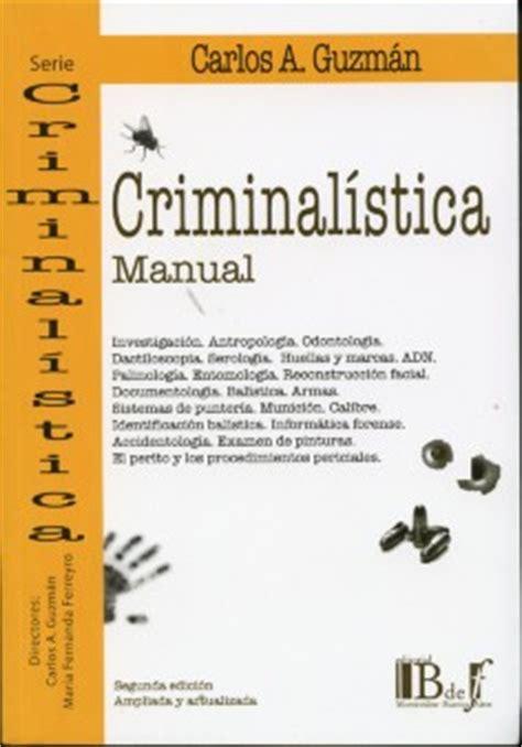 libreria forense librer 237 a dykinson criminal 237 stica manual guzm 225 n