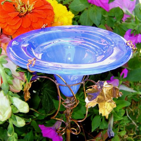 Glass Butterfly Feeder stained glass butterfly feeder copper by gloriasglassgarden
