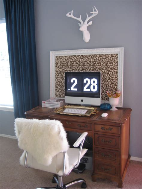Home Office Ideas Eclectic Awesome Bright Colored Deer Heads Decorating Ideas Gallery