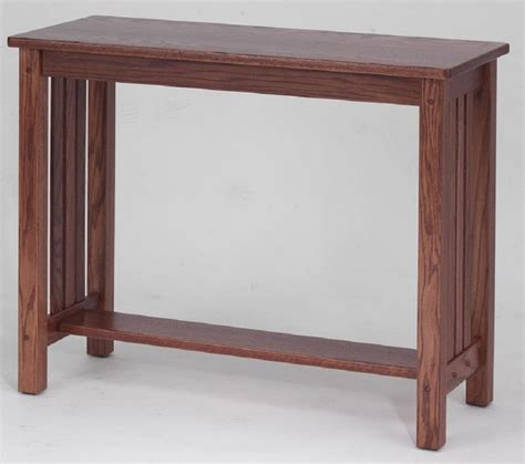 mission style sofa table oak mission style solid oak sofa table 39 quot the oak