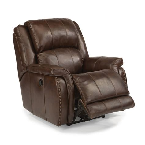 Cheap Power Recliners by Flexsteel 1244 500p Lorenzo Leather Power Recliner