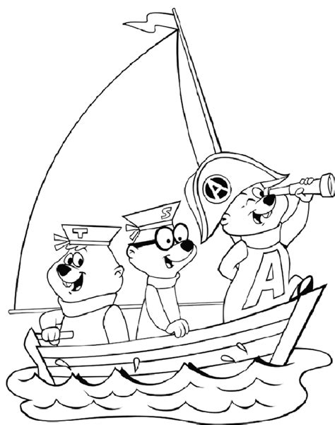 alvin the chipmunks brittany coloring pages and the chip