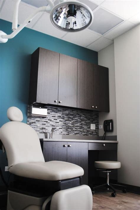 dermatology with grey washed wood and a dusty cool color palette the office for