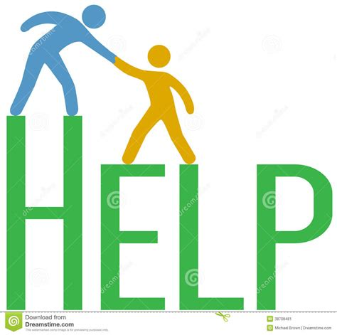 Help Find Step Up Find Support Help Answer Stock Image Image 38708481