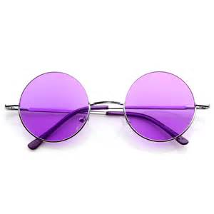 colored lens sunglasses lennon style circle metal sunglasses w color lens