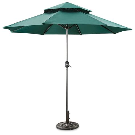 Outdoor Patio Umbrellas Castlecreek Layer Umbrella 581840 Patio Umbrellas At Sportsman S Guide