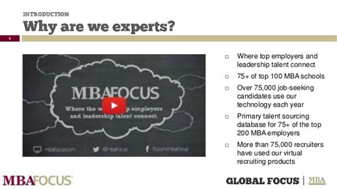 Gts Candidate Mba Focus by Best Practices For Mba Employers