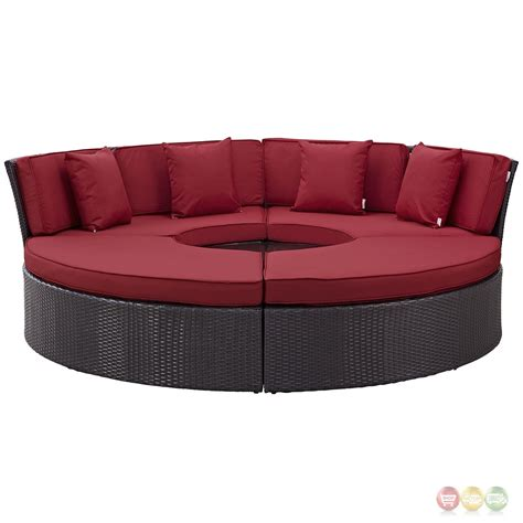 Outdoor Daybed Cushion Convene Modular Circular Outdoor Patio Daybed Set With Cushions Espresso