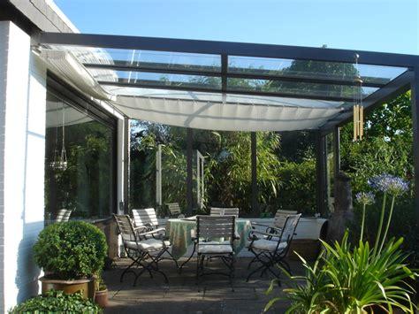glasdach terrasse planungshilfen f 252 r sonnenschutz unterm glasdach