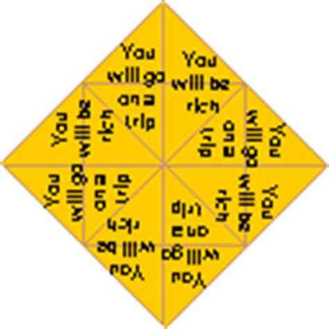 Fortune Teller Origami Sayings - fortune teller quotes quotesgram