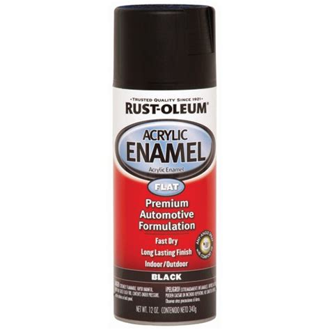 12 oz rust oleum 174 flat black acrylic enamel spray paint