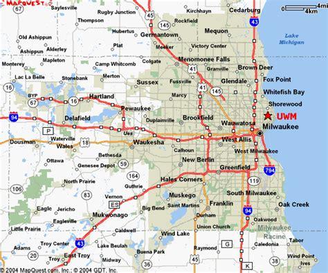 map of milwaukee uwm cus map printable calendar template 2016