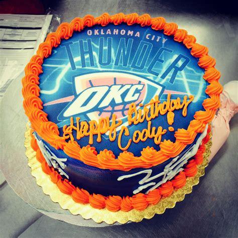 thunder cake okc thunder birthday cake cakes birthday