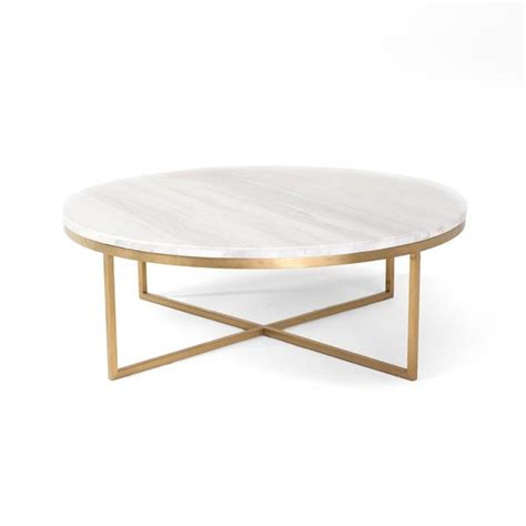 Cosmo Marble Top And Gold Base Round Coffee Table Marble Top Coffee Table
