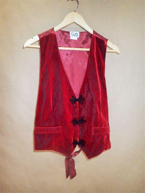 sweaters etsy 80s velvet vintage vest vest clio clothing