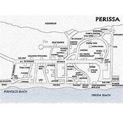 Map Of Santorini  Noitakis Rentals Perissa Beach